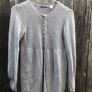 Acrobat grey 1/2 button cardigan